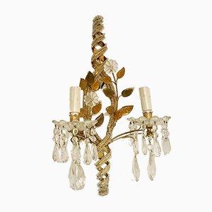 Applique in vetro di Murano e cristallo, Italia, anni '30