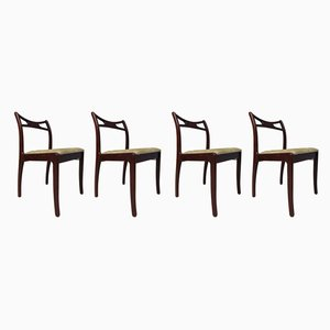 Beech & Mahogany Dining Chairs, 1979, Set of 4