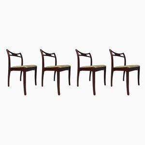 Beech & Mahogany Dining Chairs, 1979, Set of 4