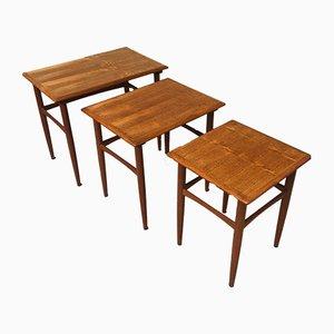 Tavoli ad incastro in teak di Kai Kristiansen, anni '60