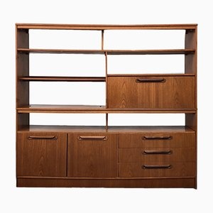 Vintage Teak and Veneer Wall Unit, 1970s
