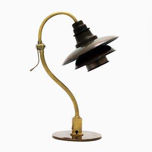 Lámpara de escritorio PH escandinava moderna de cobre y latón de Poul Henningsen para Louis Poulsen, años 30