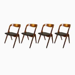Personalisierbare Sonja Esszimmerstühle von Johannes Andersen für Vamø, 4er Set