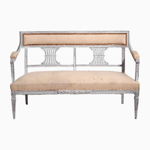 Antique Gustavian Wooden Bench
