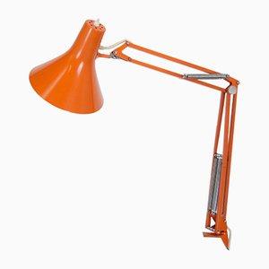 Lampada L4 arancione di Jac Jacobson per Luxo, anni '60