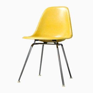 Gelber Vintage Beistellstuhl aus Glasfaser von Charles & Ray Eames für Vitra, 1980er