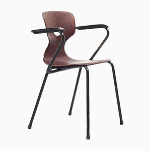 Steel & Pagwood Smile Armchair by Adam Stegner, 1950s