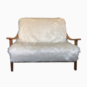 Mid-Century Oak Sofa from Suparest, 1950s