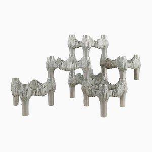 Set di portacandele in metallo di Fritz Nagel per Quist, anni '60