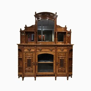 Antique Walnut Cabinet by Bruce Talbert for H. Ogden, 1870s