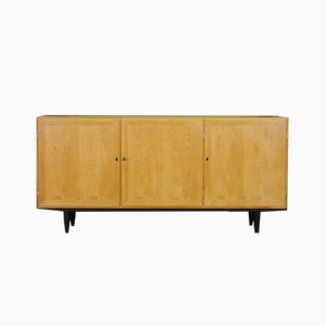 Danish Ash Veneer Sideboard by Carlo Jensen for Hundevad & Co., 1960s