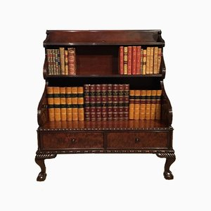 Antique Regency English Mahogany Waterfall Bookcase, 1820s