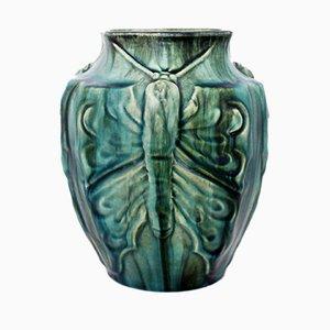 Vase en Céramique par Eugène Baudin pour Poterie de Monaco, 19ème Siècle