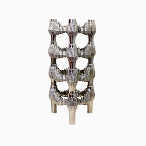 Kerzenhalter aus Metall von Fritz Nagel für Quist, 1970er, 4er Set