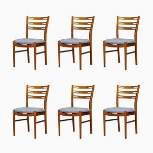 Dänische Esszimmerstühle aus Teakholz, 1960er, 6er Set
