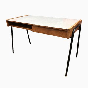 French Beech and Formica Desk by Pierre Guariche, 1960s