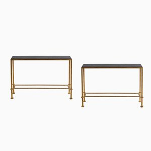 French Iron Console Tables, 1990s, Set of 2