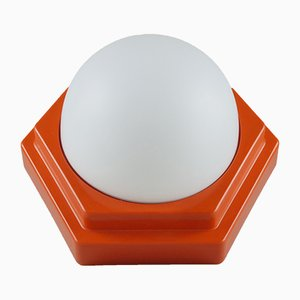 Lampada da soffitto esagonale di HP Leuchten, anni '60