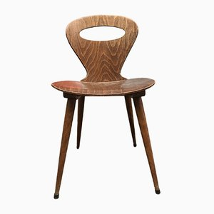 Französischer Esszimmerstuhl aus Eichenholz von Chevillotte für Baumann, 1950er