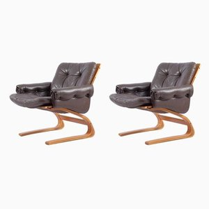 Norwegian Kengu Chairs by Elsa & Nordahl Solheim for Rybo Rykken & Co, 1970s, Set of 2