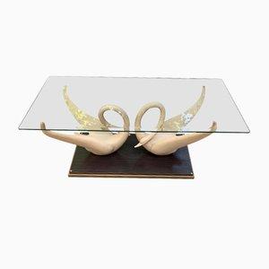 Table Basse Cygne Vintage de Maison Jansen, 1970s