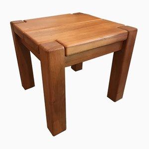 French Elm Coffee Table from Maison Regain, 1960s