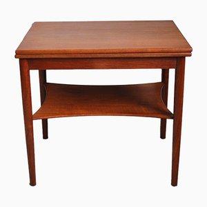 Table d'Appoint en Laiton et Teck par Børge Mogensen pour Søborg Møbelfabrik, Danemark, 1950s