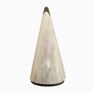 Italian Modern Murano Glass Cone Table Lamp, 1980s