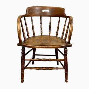 Chaise Antique en Hêtre et Orme