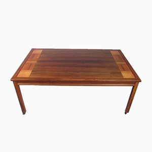 Vintage Minimalist Veneer Coffee Table, 1970s