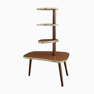 Mid-Century German Wood and Formica Plant Stand, 1950s