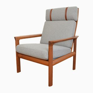 Dänischer Borneo Sessel aus Teakholz von Sven Ellekaer für Komfort, 1960er