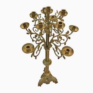 Antiker Kerzenständer aus Bronze