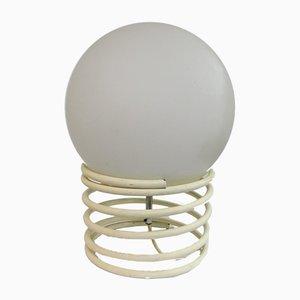 Tischlampe aus gewundenem Glas & Stahl von Ingo Maurer, 1970er