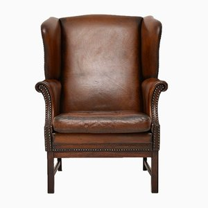 Vintage Leather Armchair, 1930s