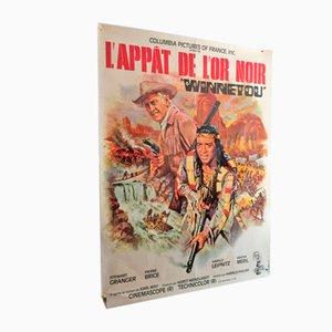 Póster L'Appât de l'or Noir Mid-Century, años 60