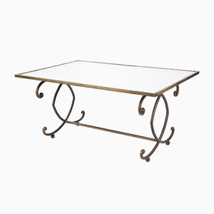 Mid-Century French Iron Coffee Table, 1940s