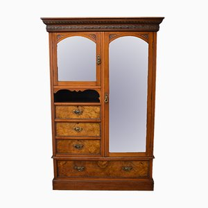 Antique Walnut Burr Wardrobe