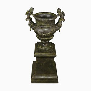Antique Cast Iron Vase
