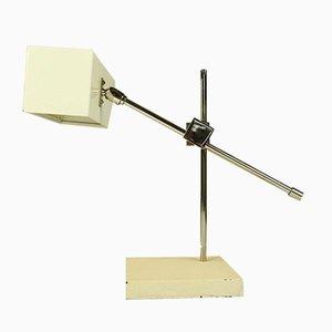 Mid-Century Tischlampe aus Messing und Stahl von Max Bietenholz für Bünte und Remmler