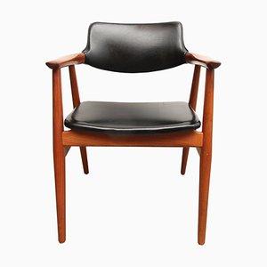 Moderner skandinavischer Armlehnstuhl aus Teak von Erik Kirkegaard für Glostrup, 1960er