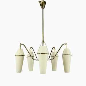 German Brass Chandelier from Markenlos, 1950s