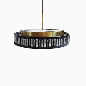 Brass & Acrylic Touch Ceiling Lamp from Raak, 1970s