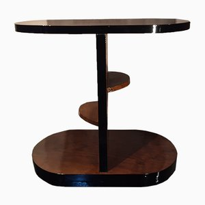 Vintage Art Deco Italian Walnut Side or Tea Table, 1930s