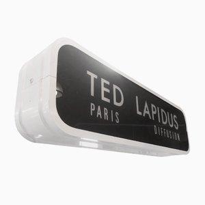 Vintage Ted Lapidus Neonlampe, 1970er