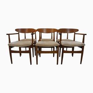 Esszimmerstühle aus Teakholz von Ib Kofod-Larsen für G-Plan, 1960er, 6er Set