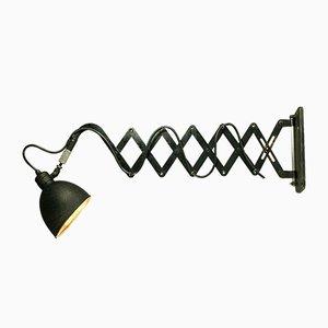 Lámpara acordeón industrial alemana de acero de Max Schuhmacher, años 30