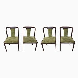 Vintage Beech Dining Chairs, 1970s, Set of 4