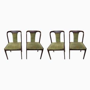 Vintage Esszimmerstühle aus Buche, 1970er, 4er Set