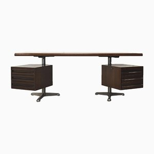 Italian Rosewood T95 Executive Desk by Osvaldo Borsani for Tecno, 1970s